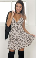 Sunshine Of Your Love dress in beige floral
