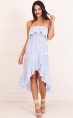 Take A Hint dress in blue stripe