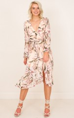 Take A Number dress in blush floral