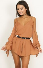 Cant Believe playsuit in rust