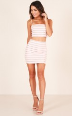 Thats A Wrap skirt in pink stripe