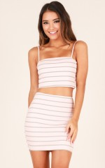 Thats A Wrap top in pink stripe