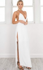 The Wind Up Dress in White