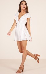The Wondering One playsuit in mocha stripe