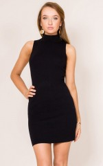 For Your Entertainment knit dress in black