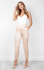 Tight Lipped pants in nude