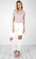 Khloe skinny jeans in white