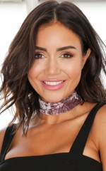 Dont Panic choker in mauve crushed velvet