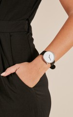 City Lights watch in black and silver