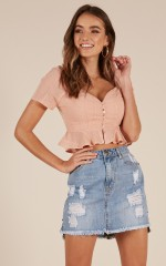 Cruel Intention top in pink