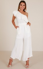 Festive Time jumpsuit in white