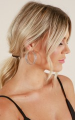 On Your Level earrings in silver