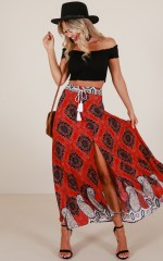 Another Perfect Day skirt in red print