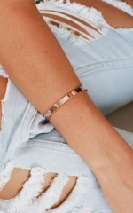 Revenge Is Sweet bangle in rose gold
