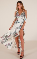 All Around Me maxi dress in cream floral
