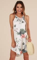 Complicated Love dress in white floral