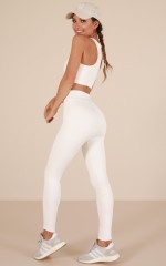 The Limits Tights in White