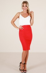 Claim It Back skirt in red