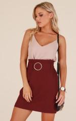 Lady Danger Skirt in Wine