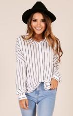 Amazing Grace shirt in navy stripe