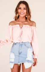 Wonderful Love top in blush