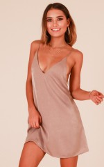 Sign Me Up dress in taupe