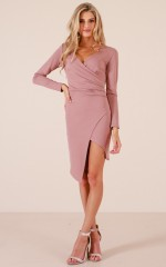 All The Way dress in blush