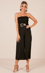 Weekend Chill jumpsuit in black