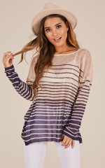 Sweet Sailing knit in navy stripe
