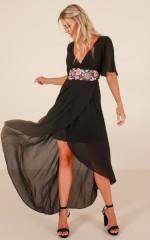 Starlit Nights maxi dress in black