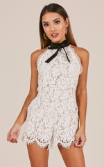 Memories of you playsuit in white lace