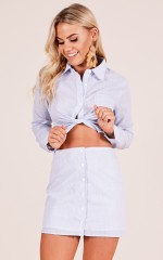 Play It Cool two piece set in pale blue