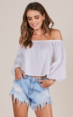 Brighter Day top in white