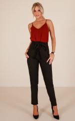 Influence Pants in Black Linen look