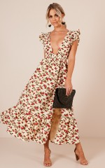 Lovers Day dress in  beige floral