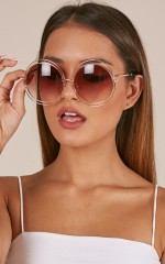 Where To Now sunglasses in gold