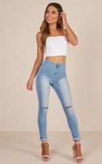Felicity skinny jeans in light wash