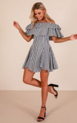 Place In The Sun dress in black gingham
