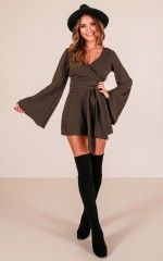 Love Out Loud playsuit in khaki