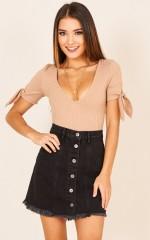 Bad News skirt in black