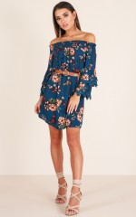 Lost In The Moment dress in blue floral