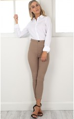 On Time pants in Taupe