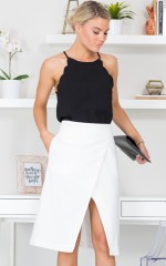 Overlap You Skirt in White