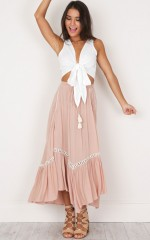 Pastel City Skirt in mocha