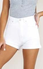Join The Fray Denim Shorts in White