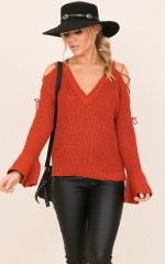 No Matter knit top in rust
