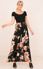 Isnt She Lovely pants in black floral