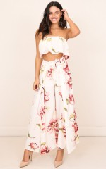 Its You two piece set in white floral