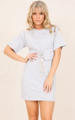 Pregame dress in grey