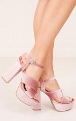 Qupid - Crush in blush velvet
